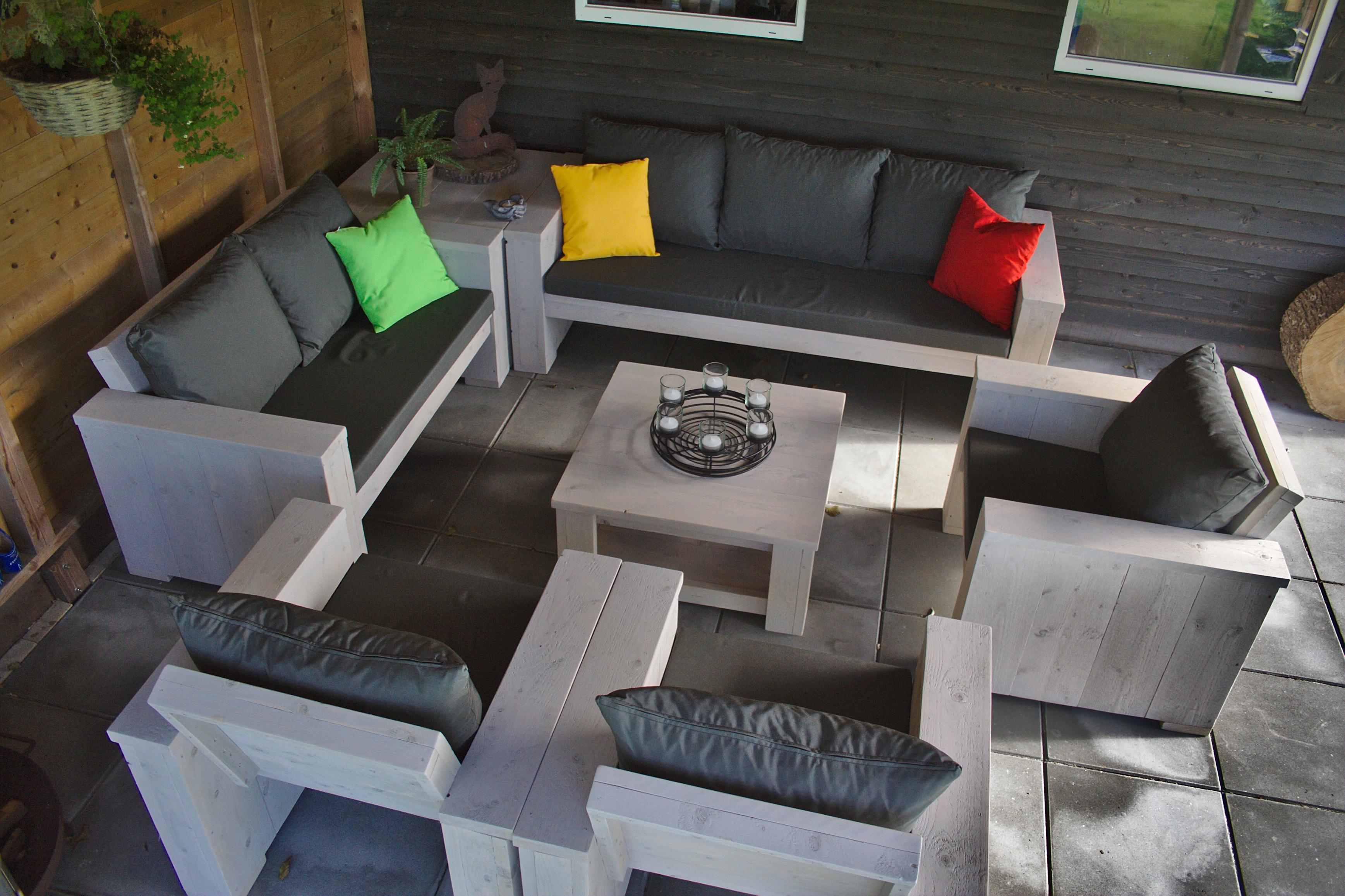 Op maat gemaakte loungeset met kussens